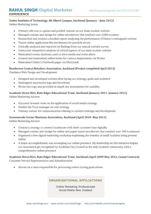 digital strategist resume - Digital Strategist Resume